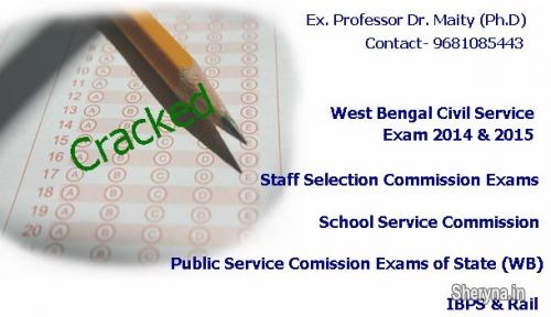 IBPS, WBCS, SSC, PSC Exam studies personal guidance