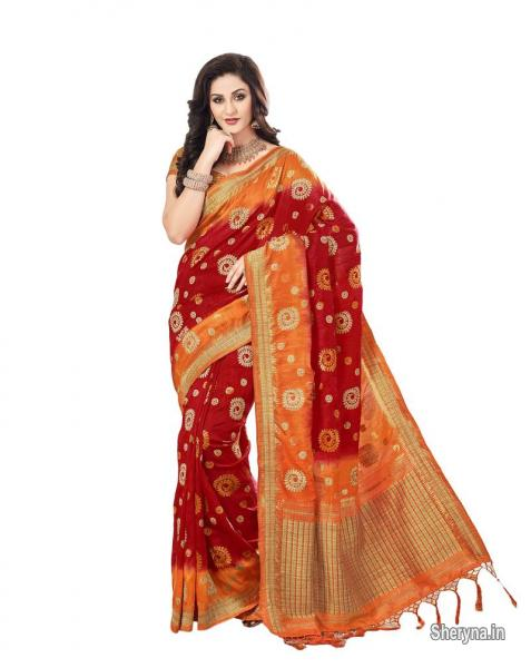 c3bc193aff9 Picture of Bridal sarees online shopping at Mirraw