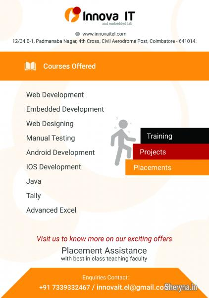 Internship Training ASP  NET, ANDROID @ Innova IT